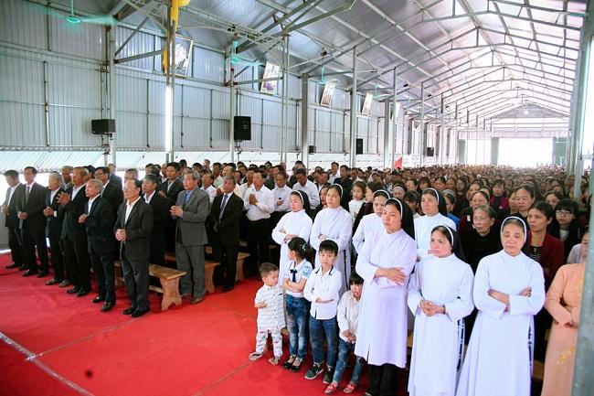 Trung Lao khởi công tái thiết thánh đường