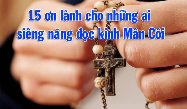 15 Ơn Lành Đức Mẹ Maria Hứa Ban Cho Những Ai Lần Chuỗi Mân Côi