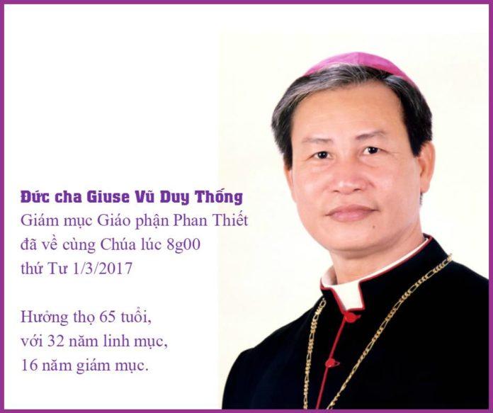 Ủy ban văn hóa mời giỗ đầu Cố Giám mục Giuse Vũ Duy Thống