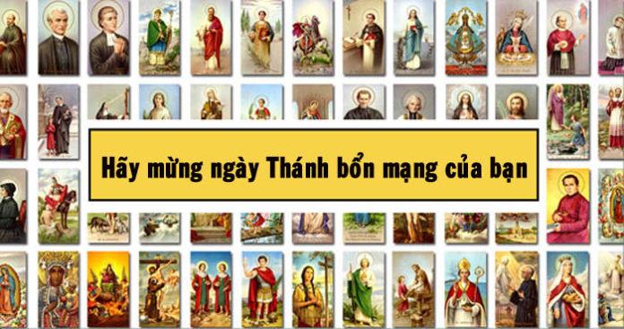 Hãy mừng ngày Thánh bổn mạng của bạn như một sinh nhật thứ hai
