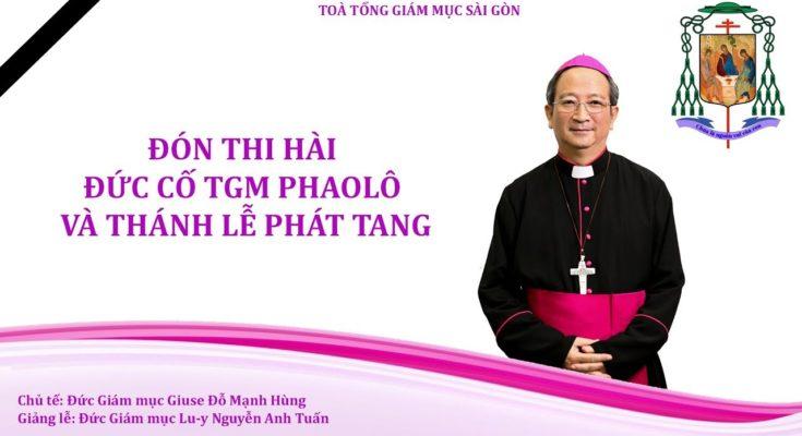 Trực tiếp: Đón Thi hài Đức cố TGM Phaolô tại sân bay Tân Sơn Nhất và Thánh lễ Phát tang