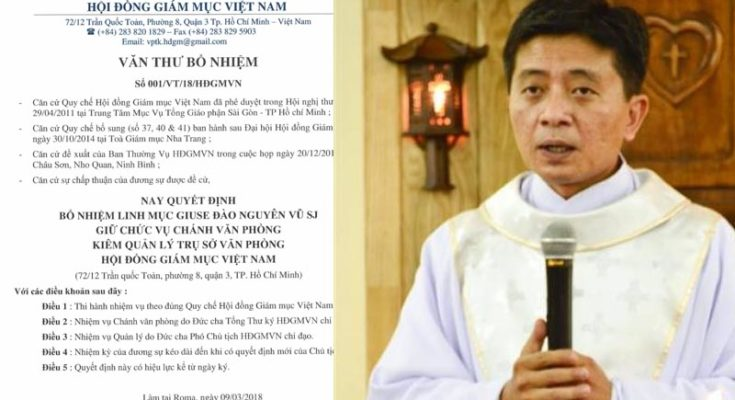 Bổ nhiệm Chánh Văn phòng Hội đồng Giám mục Việt Nam