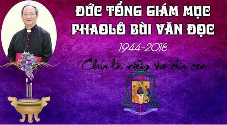 Chương trình lễ tang chính thức của Đức tổng Giám mục Phaolô Bùi Văn Đọc - Ảnh minh hoạ 3